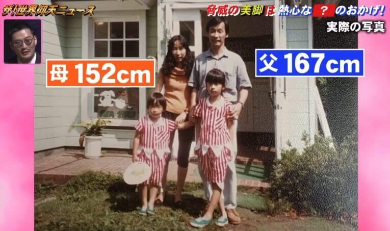 彦坂桜の両親の身長